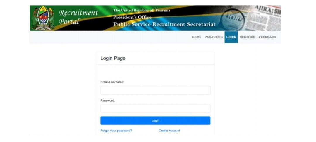 Ajira Portal System Registration