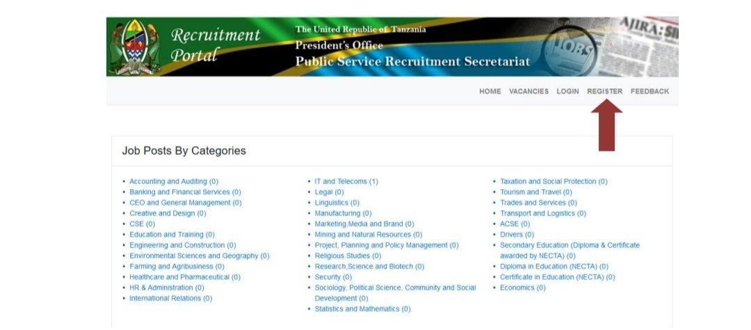 Ajir Mpya Registration system