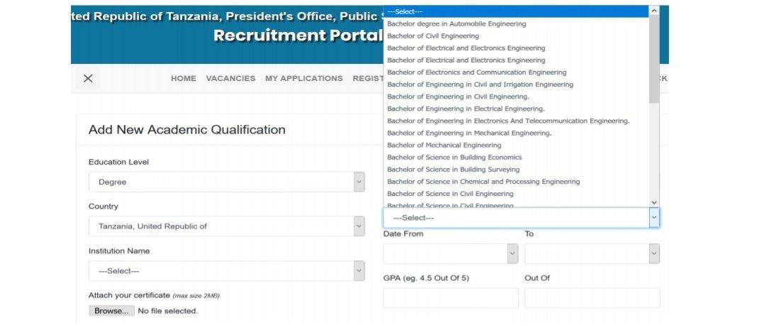 Ajira Portal System Registration 2020
