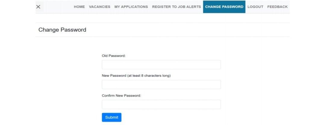 Ajira Portal Change Password