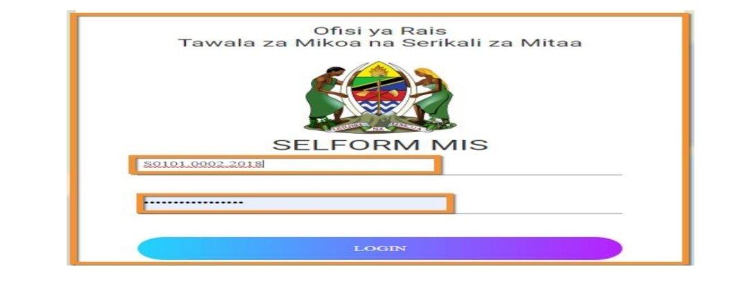 Selform System TAMISEMI 2020/2021